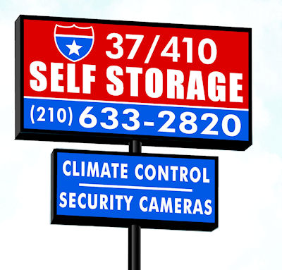 37/410 Self Storage Street Sign